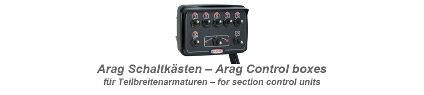 control units by arag for section valves and pressure valves