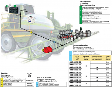 control units by arag for section valves and pressure valvesarag cords for control box crop spraying series 4669