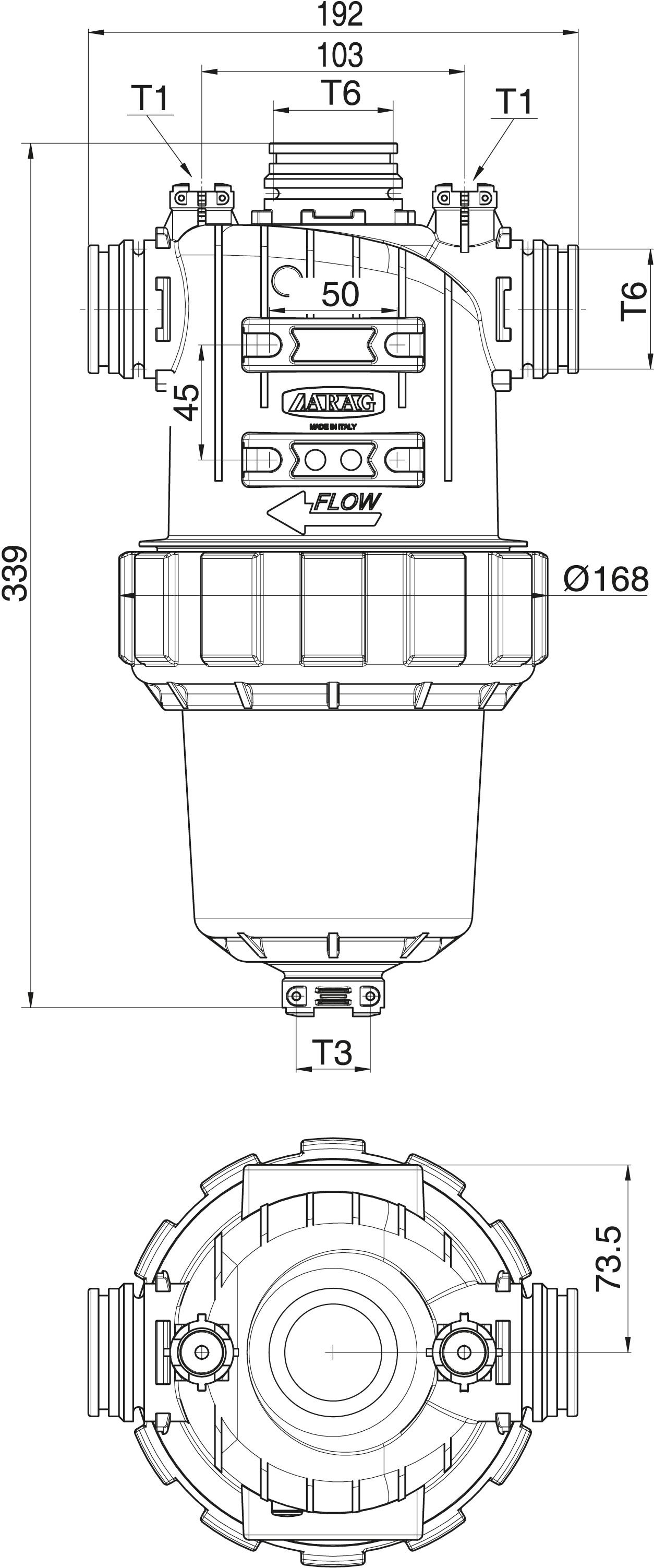 arag pressure filter 330 with intake on top buy here